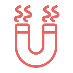 red magnetic heat icon